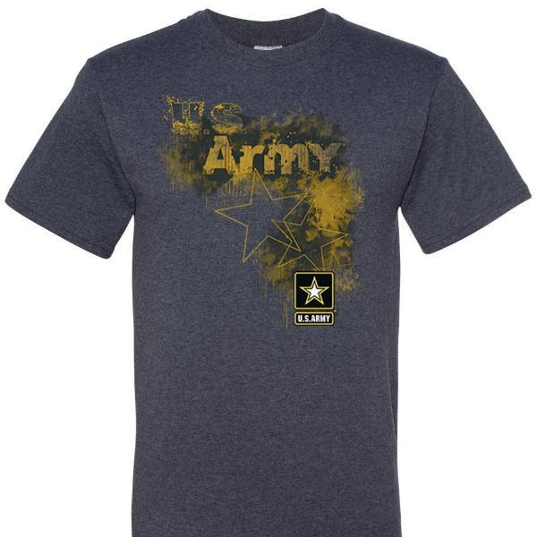 US Army Stars and Logo T Shirt Short Sleeve T-Shirt Calico Ink