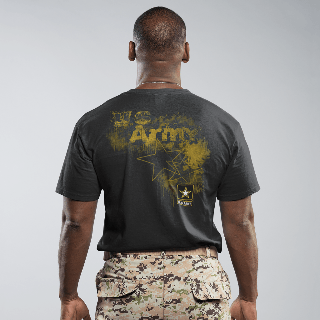 a15d5be9 United States Army Front and Back T Shirt Short Sleeve T-Shirt Calico Ink