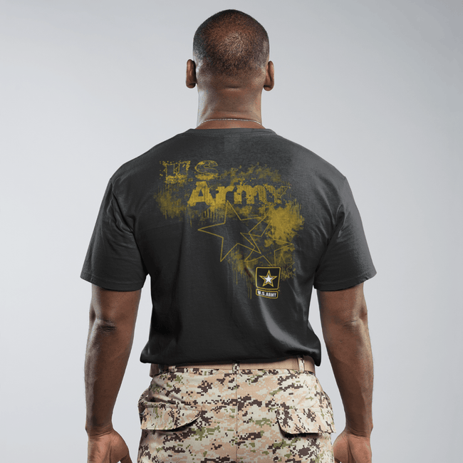 United States Army Front and Back T Shirt Short Sleeve T-Shirt Calico Ink