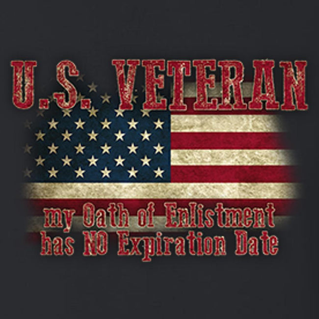 U.S. Veteran Oath Of Enlistment T Shirt Short Sleeve T-Shirt Calico Ink