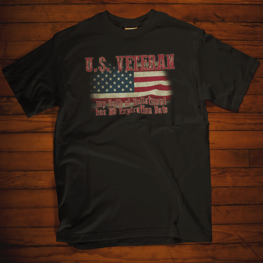 U.S. Veteran Oath Of Enlistment T Shirt by Calico Ink