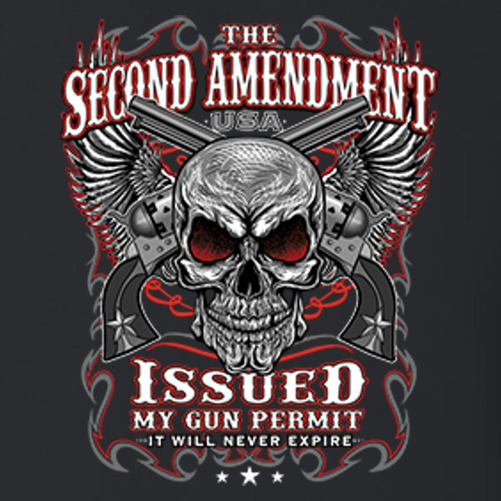 The Second Amendment Issued My Gun Permit T Shirt Short Sleeve T-Shirt Calico Ink