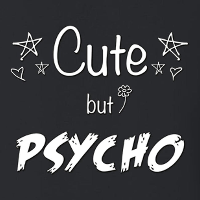 Cute But Psycho T Shirt Youth T-Shirt Calico Ink