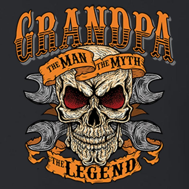 Grandpa The Man The Myth The Legend T Shirt Short Sleeve T-Shirt Calico Ink