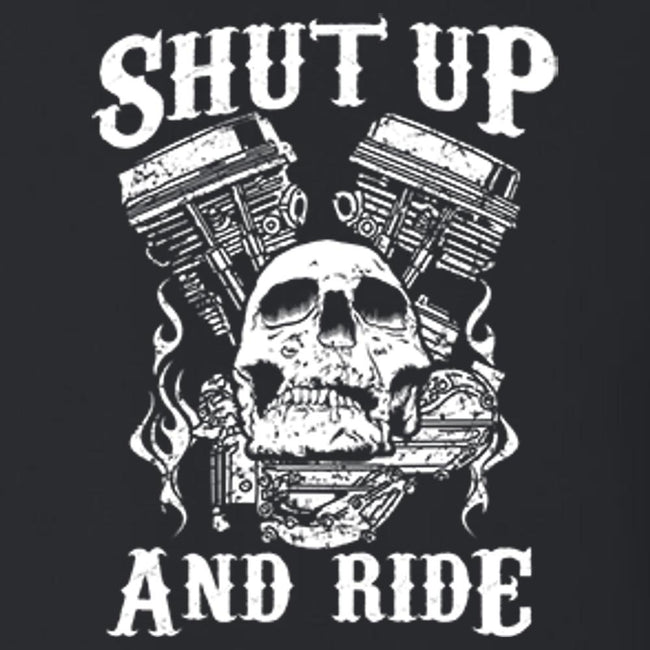 Shut Up And Ride T Shirt By Calico Ink
