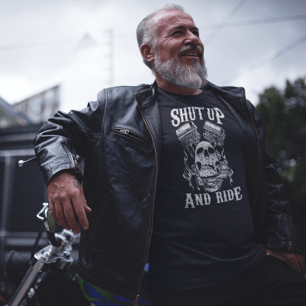 Shut Up And Ride T Shirt Short Sleeve T-Shirt Calico Ink