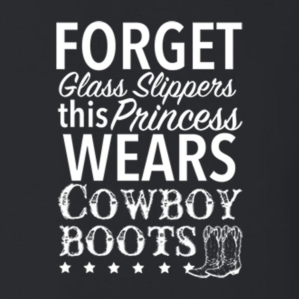 Forget Glass Slippers This Princess Wears Cowboy Boots T Shirt Short Sleeve T-Shirt Calico Ink