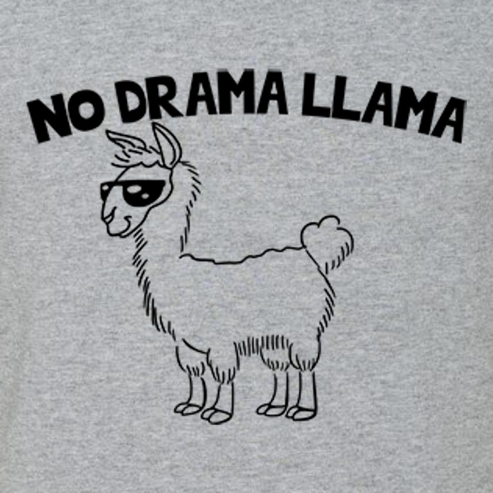 No Drama LLAMA T Shirt Short Sleeve T-Shirt Calico Ink