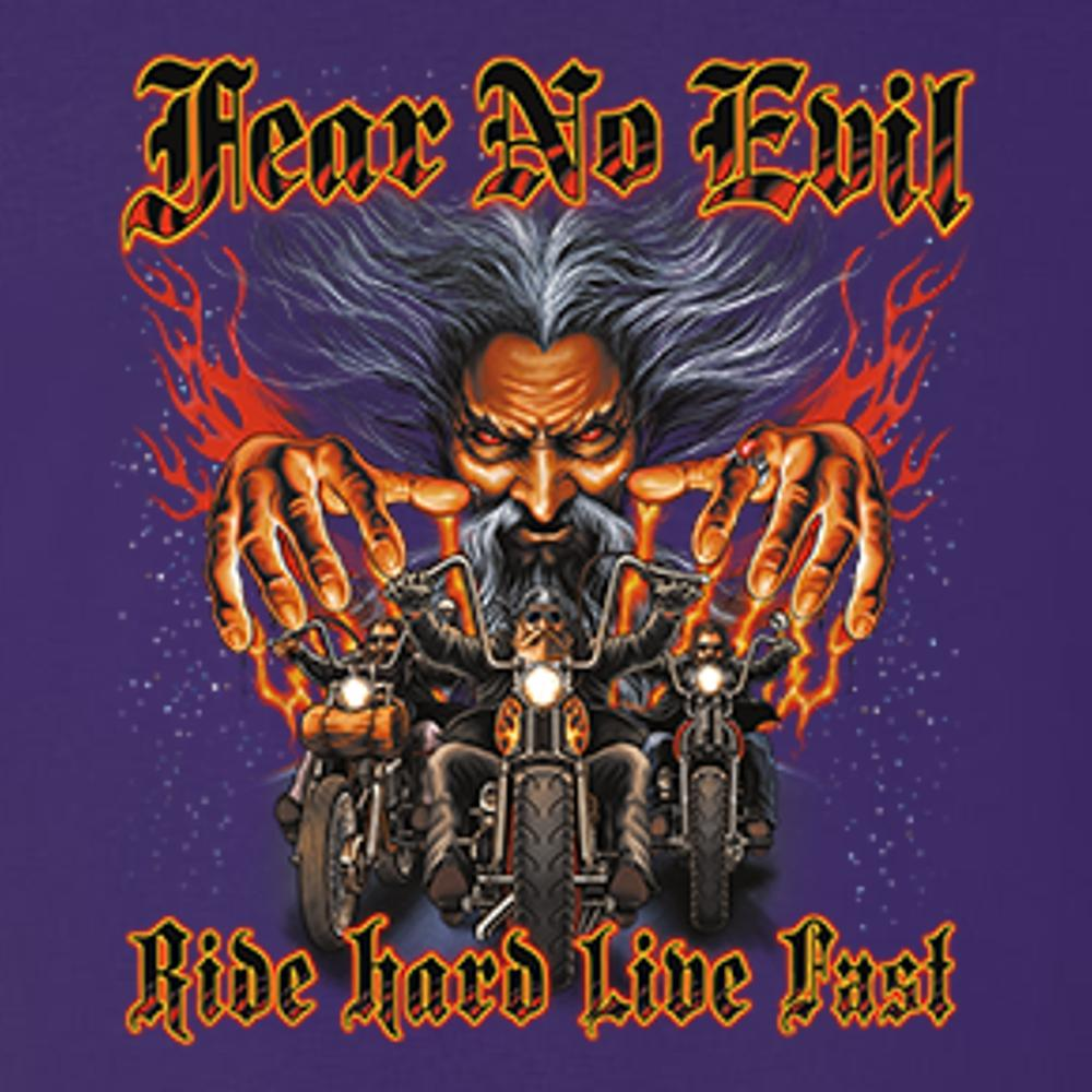 Fear No Evil Ride Hard Live Fast T Shirt by Calico Ink