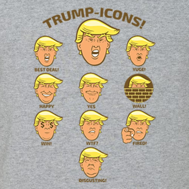 Trump Icons T Shirt by calico ink