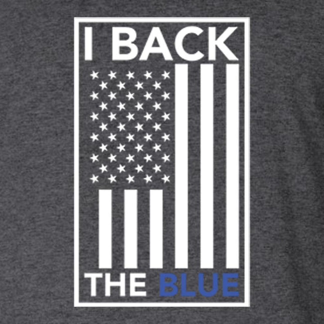 I Back The Blue Flag T Shirt Short Sleeve T-Shirt Calico Ink