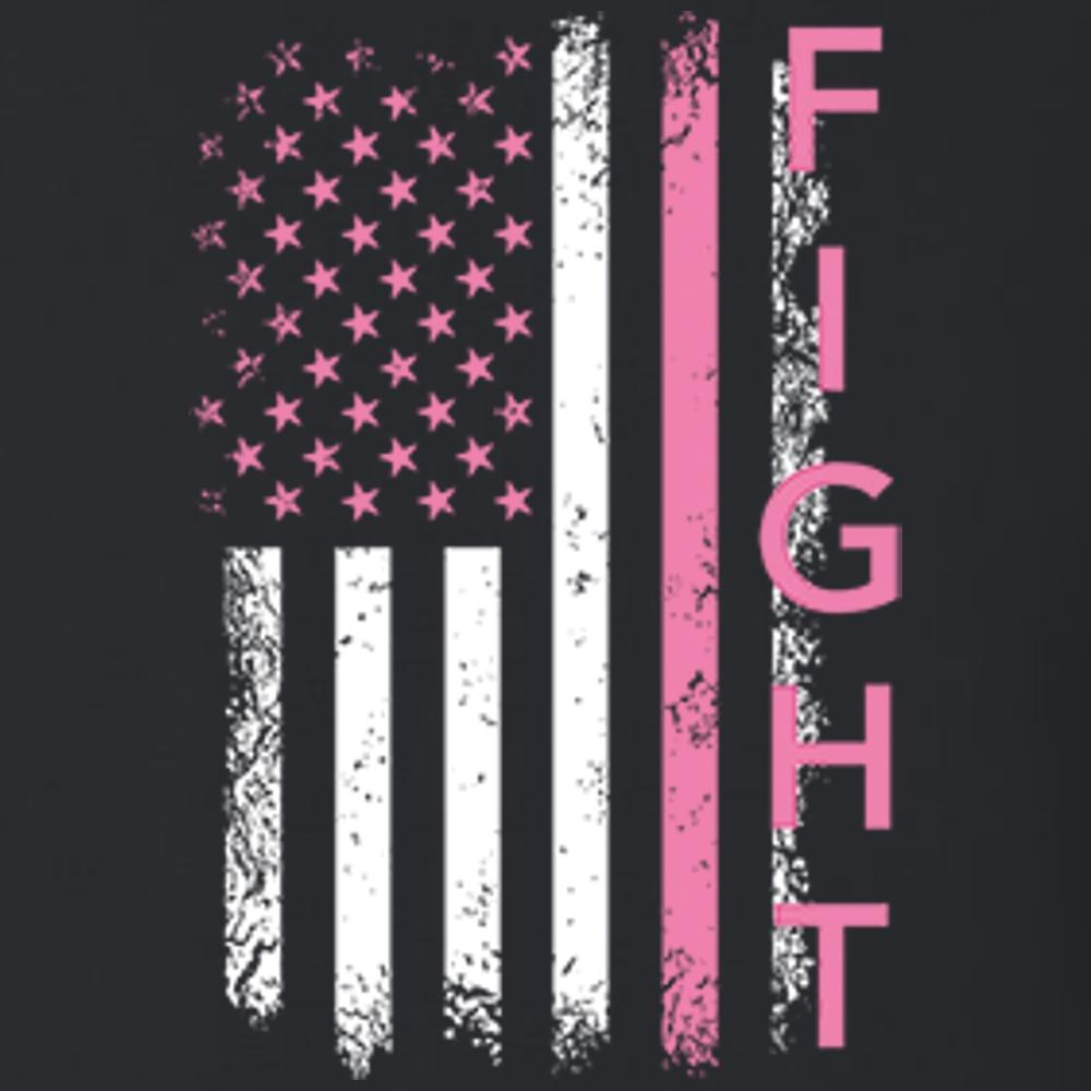 Fight Flag Vertical Distressed T Shirt Short Sleeve T-Shirt Calico Ink