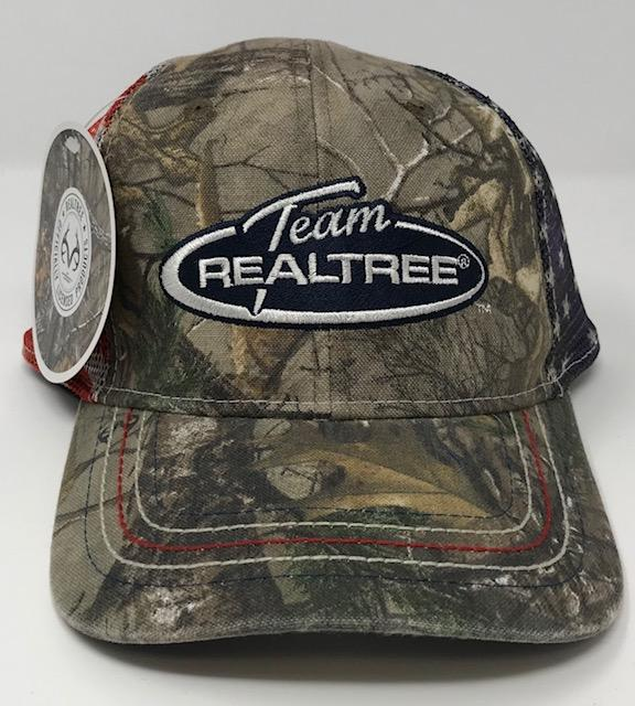 Realtree Xtra Camo American Flag Hat