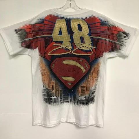 Jimmy Johnson Superman Nascar T Shirt Short Sleeve T-Shirt Calico Ink