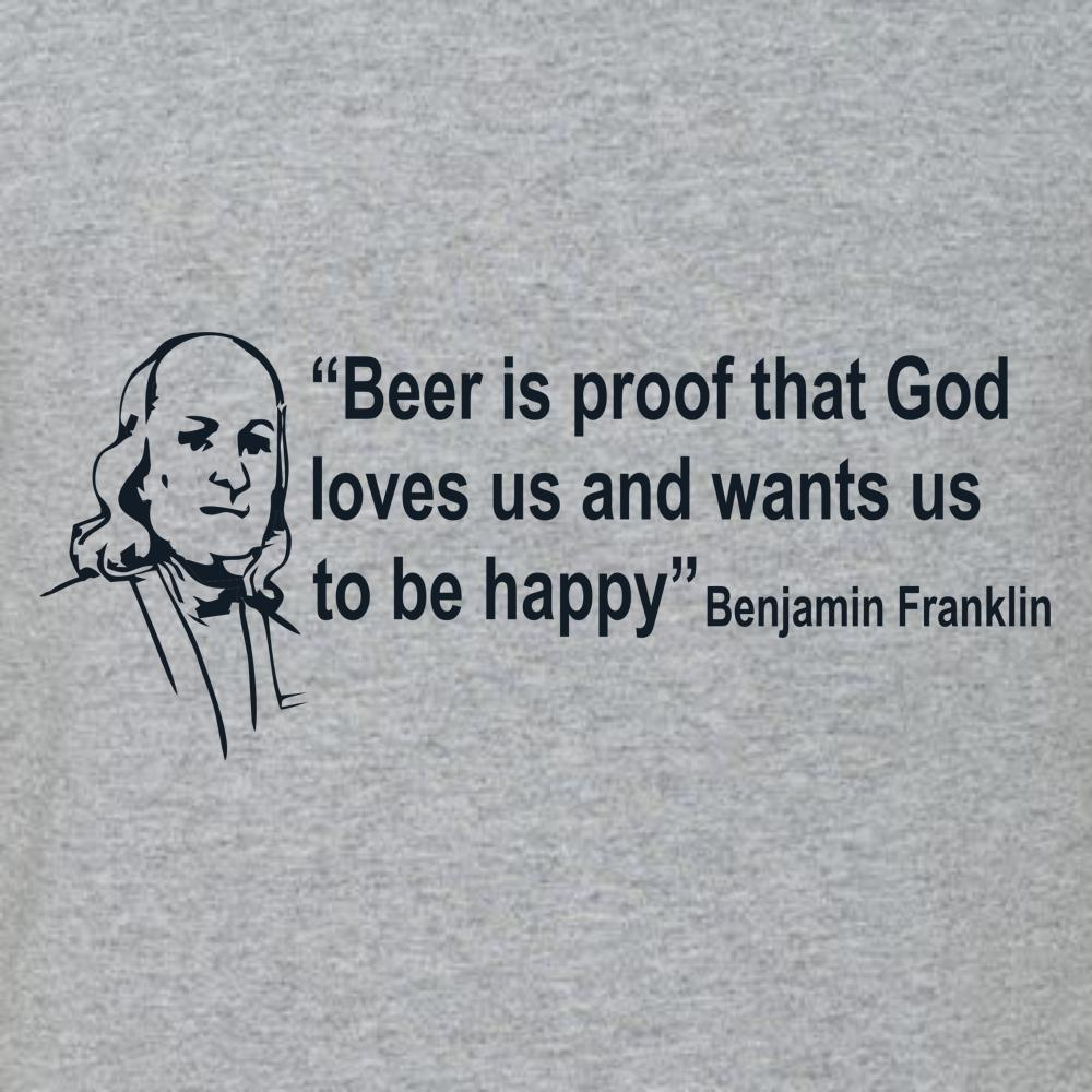 Beer Is Proof God Loves Us T Shirt Short Sleeve T-Shirt Calico Ink