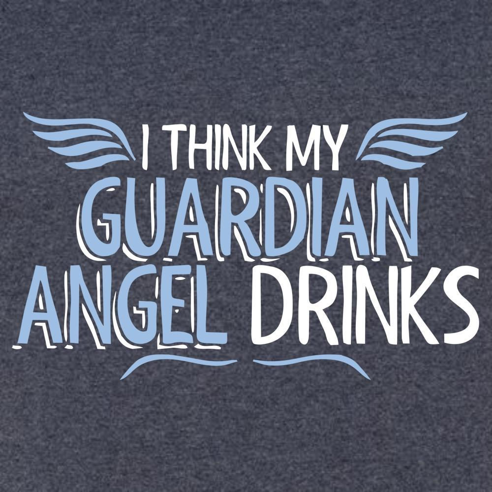 My Guardian Angel Drinks T Shirt Short Sleeve T-Shirt Calico Ink