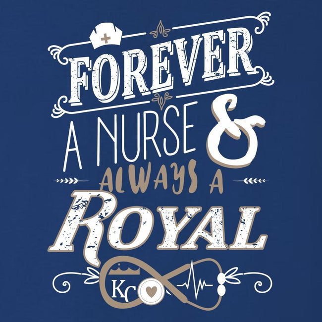 Forever A Nurse, Forever Royal T Shirt Short Sleeve T-Shirt Calico Ink