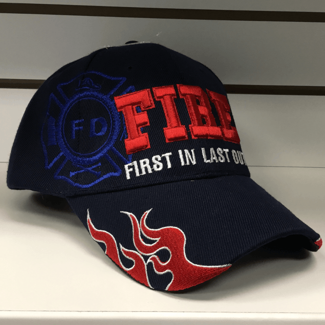 Fire Navy Hat - First In Last Out Hats Calico Ink