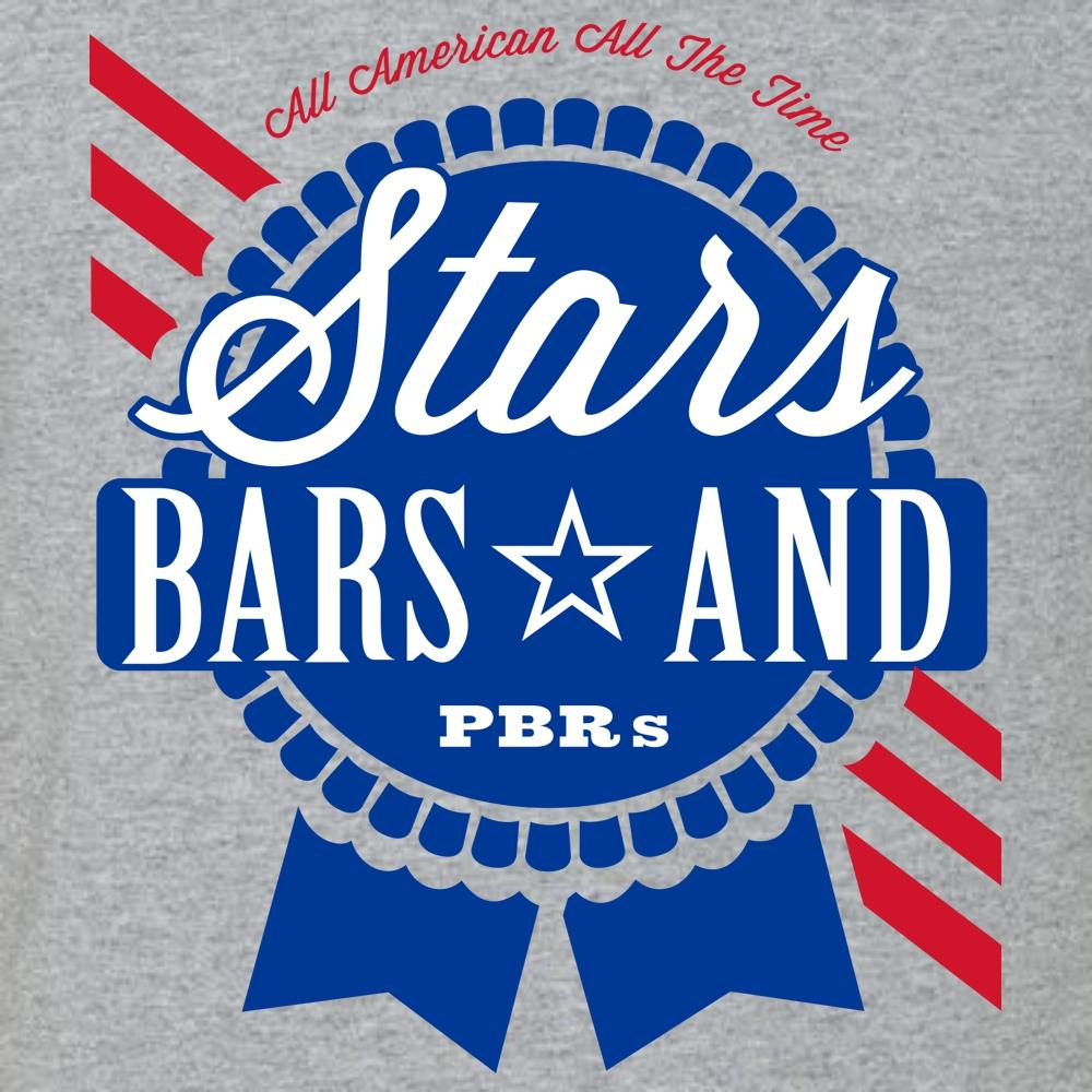 Stars, Bars, and PBR's T Shirt Short Sleeve T-Shirt Calico Ink