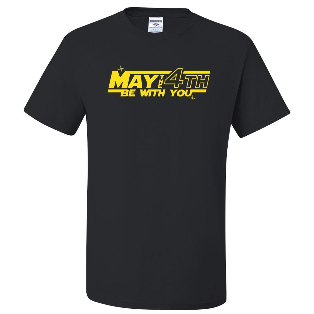 May The 4th Be With You T Shirt Short Sleeve T-Shirt Calico Ink