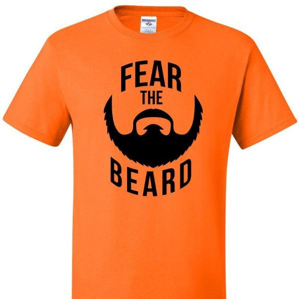 Fear The Beard T Shirt Short Sleeve T-Shirt Calico Ink