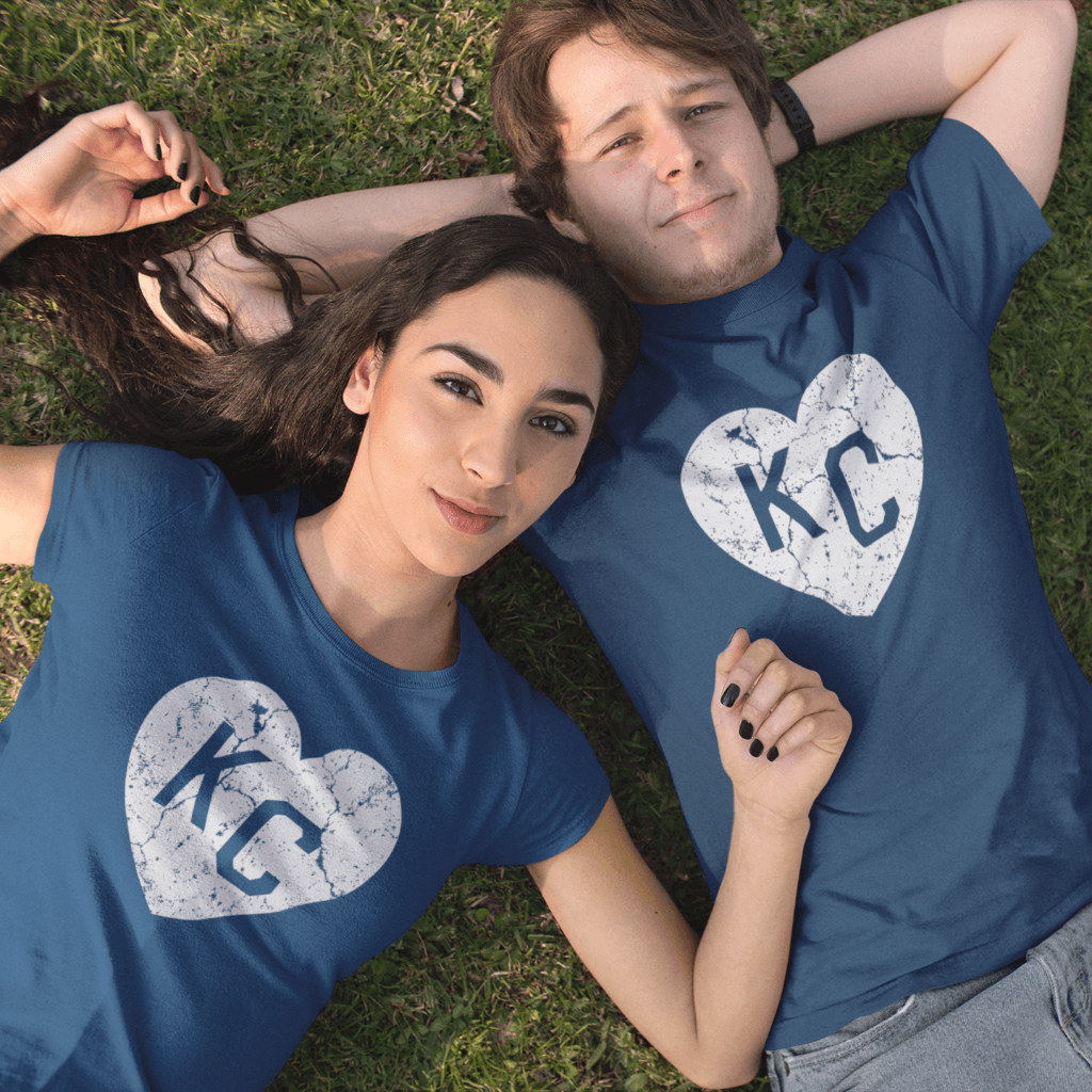 KC Heart Distressed T Shirt by Calico Ink