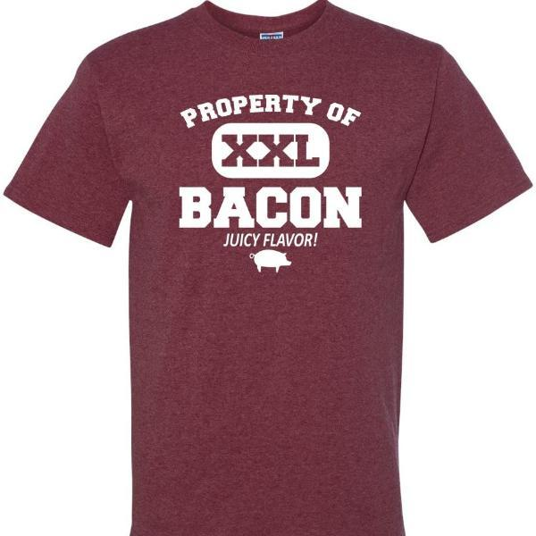 Property Of XXL Bacon T Shirt Short Sleeve T-Shirt Calico Ink