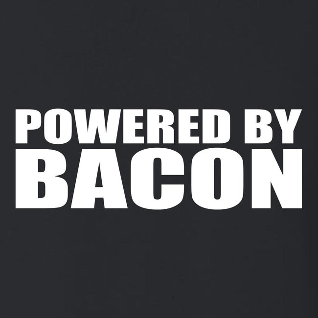Powered By Bacon T Shirt Short Sleeve T-Shirt Calico Ink