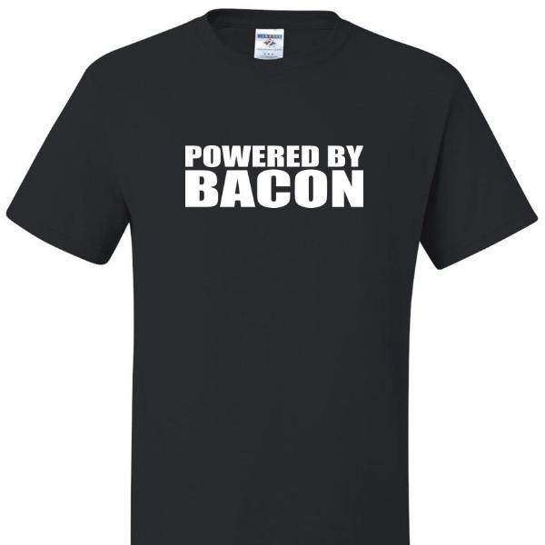 Powered By Bacon T Shirt, by calico_ink