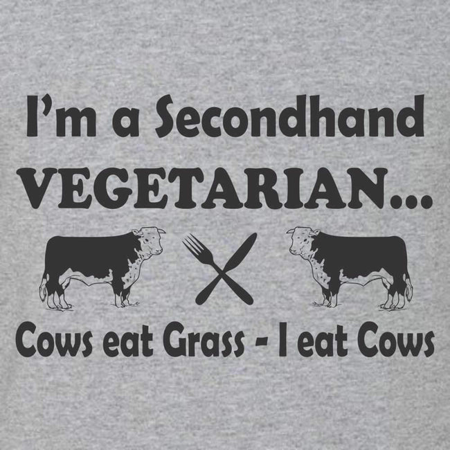 I Am A Secondhand Vegetarian T Shirt Short Sleeve T-Shirt Calico Ink