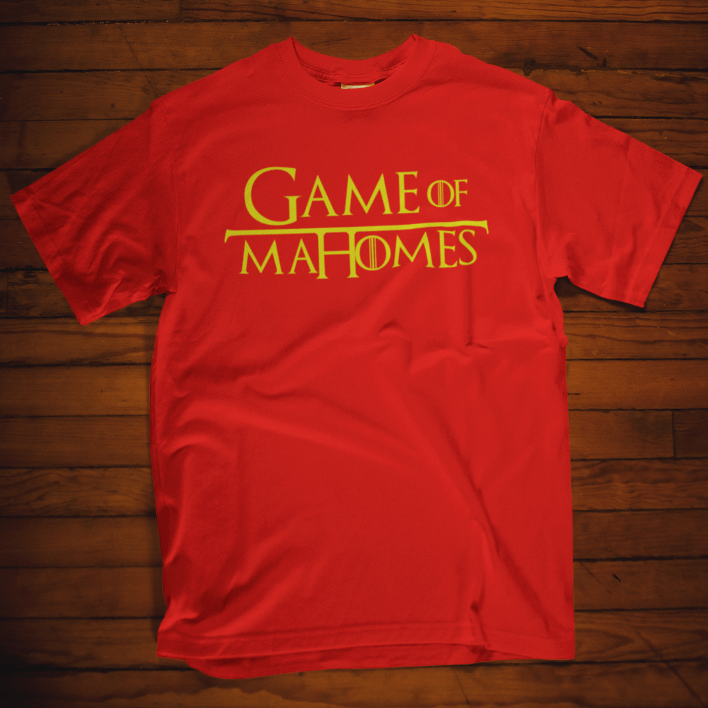Game Of Mahomes T Shirt Short Sleeve T-Shirt Calico Ink