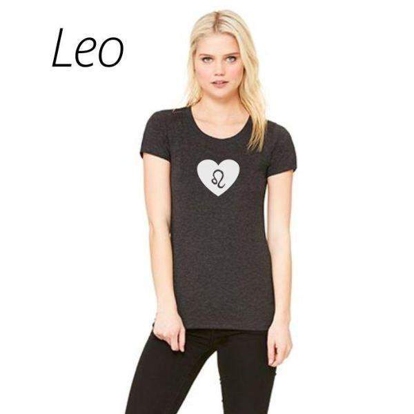 Leo Heart Zodiac Sign T Shirt by Calico_ink