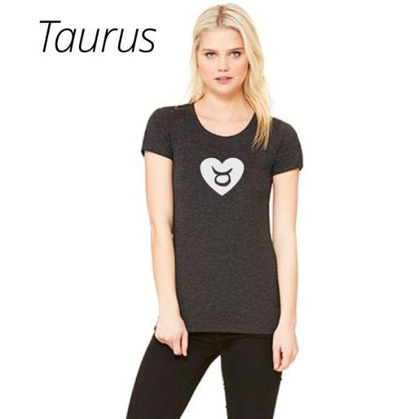 Taurus Heart Zodiac Sign T Shirt by Calico_ink