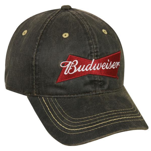 Budweiser Dark Brown Hat, [product_type} - Calico_Ink