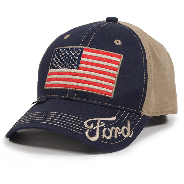 Calico Ink Ford USA flag hat front