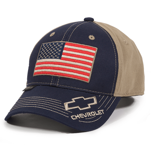 Calico Ink Chevy USA flag hat front
