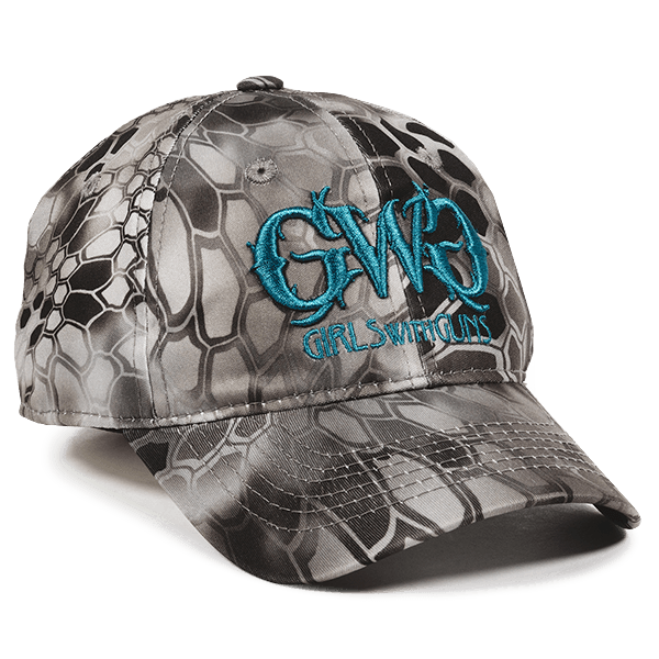 Calico Ink Krptek girls with guns hat front