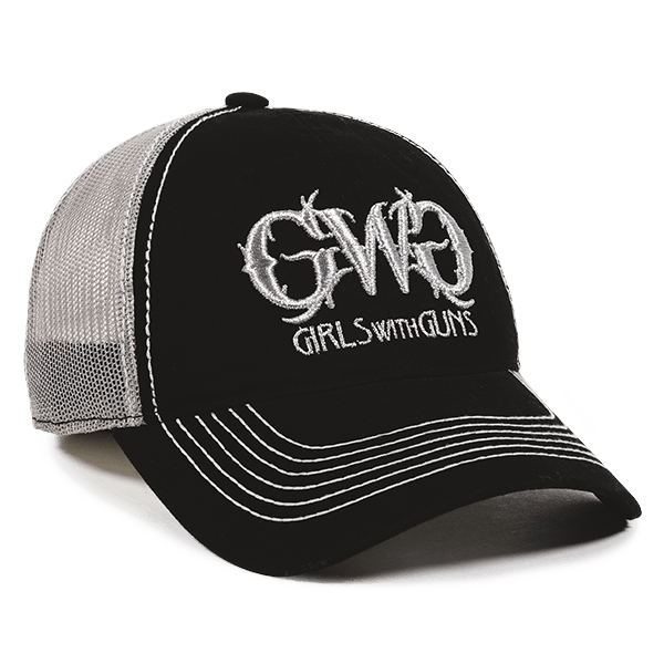 Calico Ink girls with guns hat front