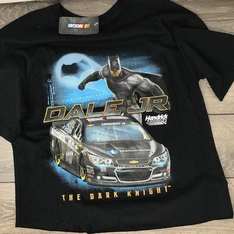 Licensed Dale Jr Batman Nascar T Shirt Short Sleeve T-Shirt Calico Ink