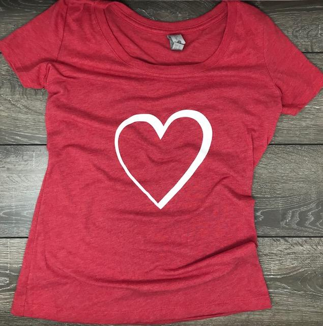3d Heart T Shirt Women's T-Shirt Calico Ink