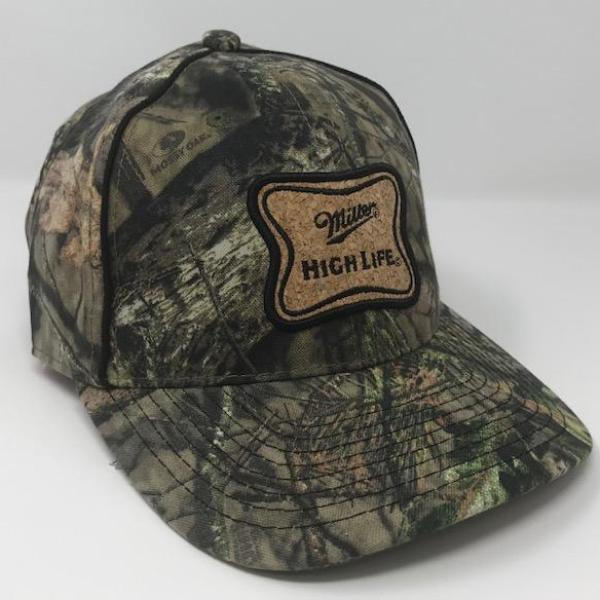 Miller High Life Mossy Oak Hat by calico_ink