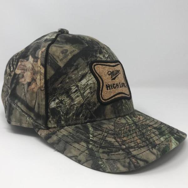 Miller High Life Mossy Oak Hat side by calico_ink