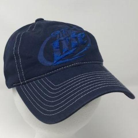 Navy Miller Lite Beer Hat Front, By Calico_Ink