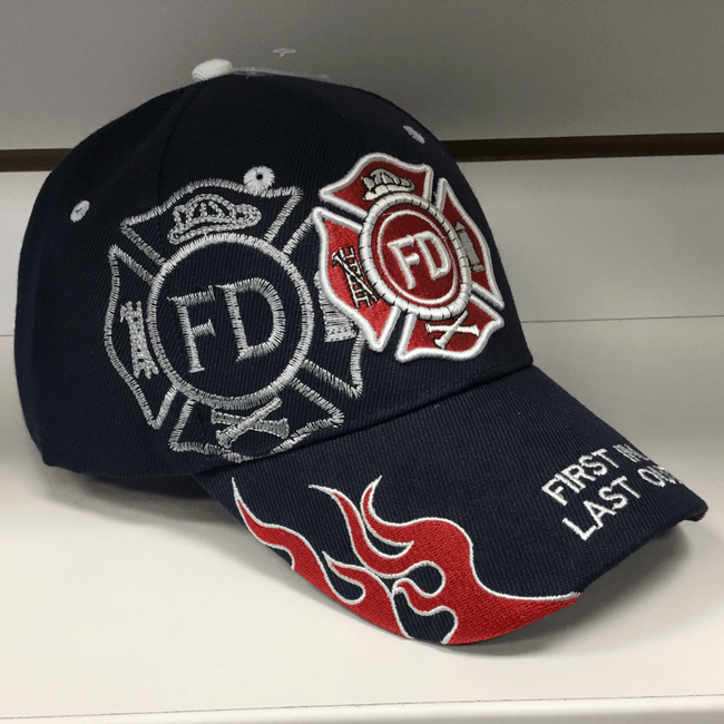 Fire Hat navy blue - First In Last Out Hats Calico Ink