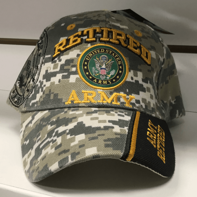 Retired US Army Hat Hats Calico Ink