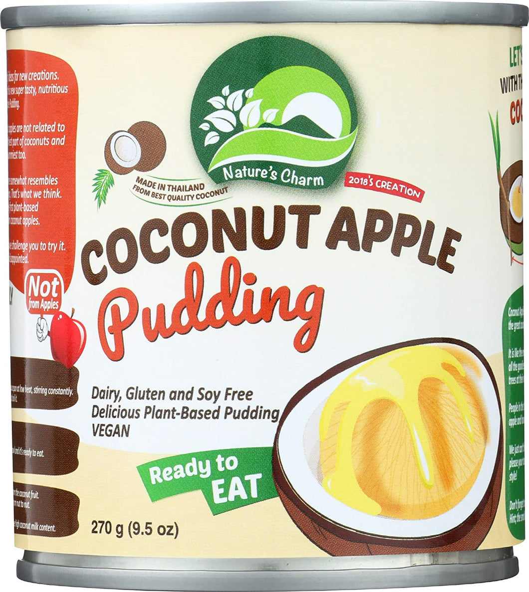 Nature's Charm - Coconut Apple Pudding (Vegan) - จาวมะพร้าว