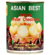Asian Best - Whole Water Chestnuts in Water - แห้วกระป๋อง