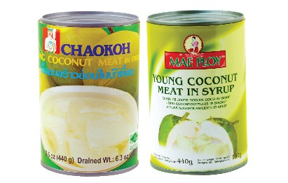 Chaokoh Young Coconut Meat in Syrup เนื้อมะพร้าวในน้ำเชื่อม