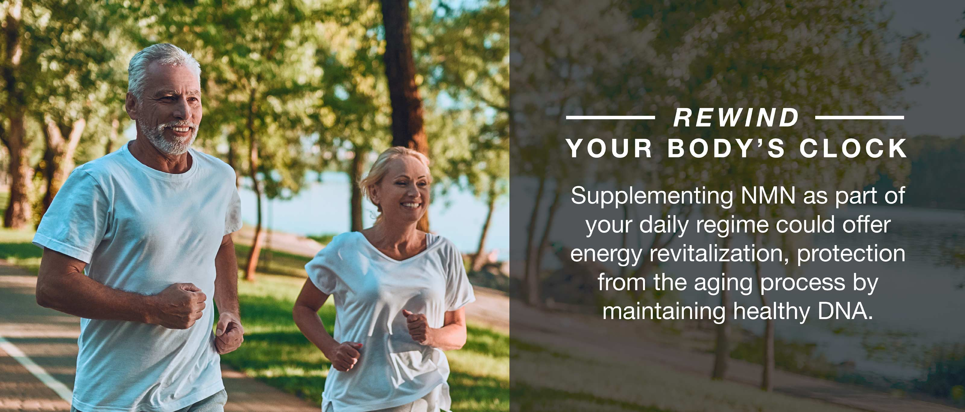 Supplementing NMN with your daily regime can offer energy and protection from aging process by maintaining healthy DNA.