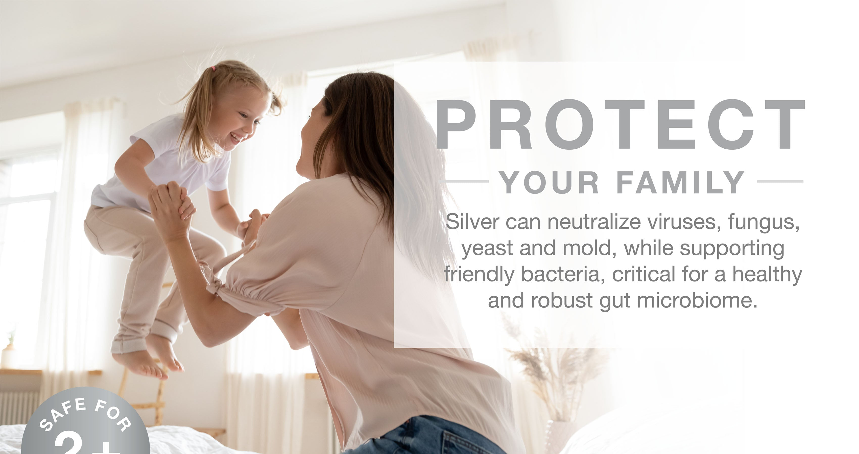 Coated silver can protect your family by neutralizing viruses and fungi while supporting friendly bacteria.